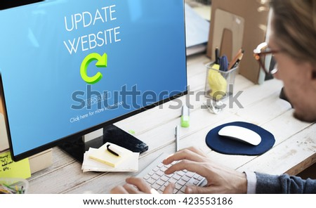 Update Website Webpage Networking Concept - stock photo