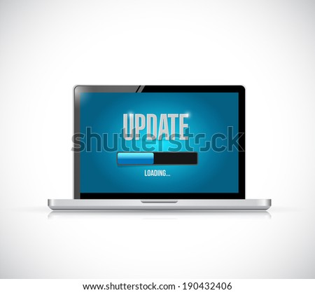 update your computer illustration design over a white background - stock photo
