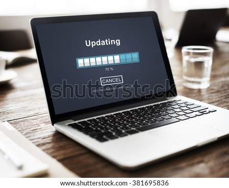 Updating Software Technology Upgrade Concept - stock photo