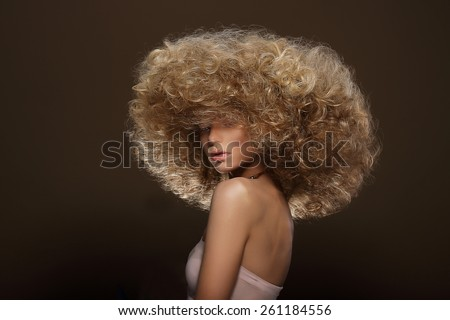 Updo. Vogue Style. Woman with Futuristic Hairdo - stock photo