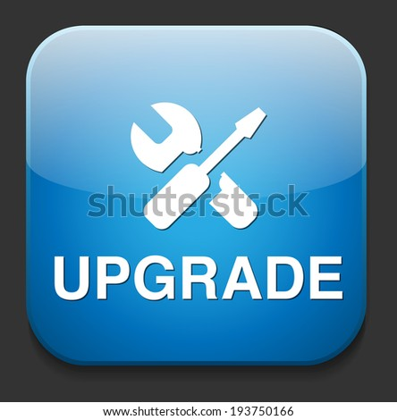 Upgrade now button - stock photo