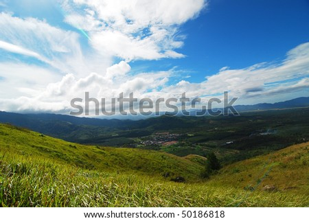 uphill mountain - stock photo