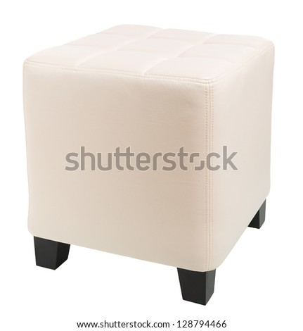 upholstered furniture isolated on white - stock photo