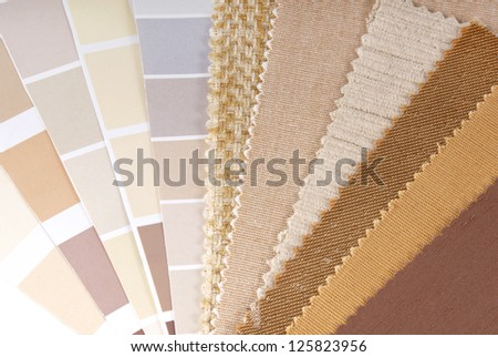 upholstery,curtain and color selection - stock photo
