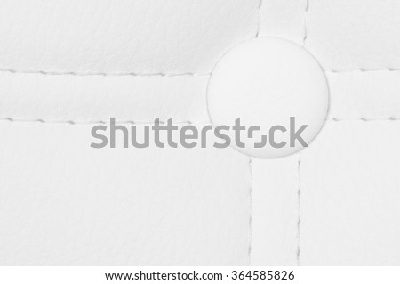 upholstery fabric- white leather - stock photo