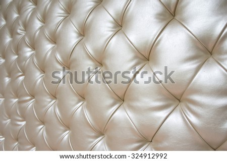 upholstery sofa leather pattern background in shallow depth of field - stock photo
