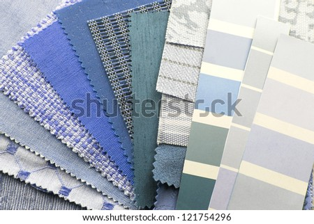 upholstery texture color samples - stock photo