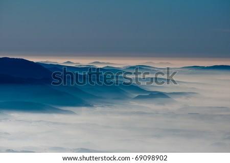 upland haze - stock photo