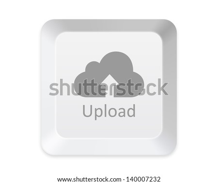 Upload to cloud button - stock photo