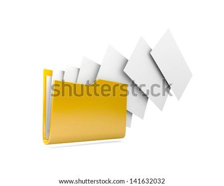 Uploading documents from folder. - stock photo