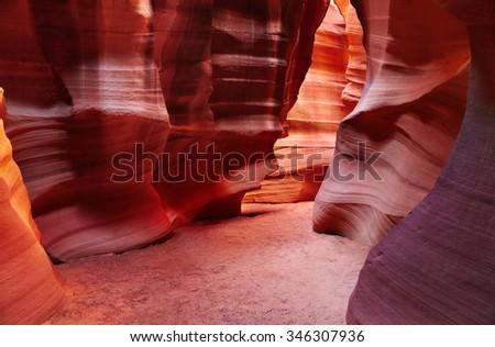 Upper Antelope canyon, Arizona, USA - stock photo