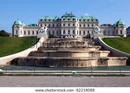 Upper Belvedere Palace in Vienna, Austria - stock photo