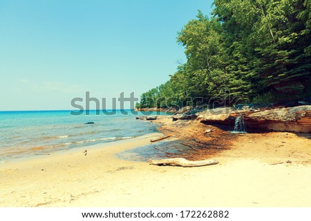 Upper Peninsula Beach - Michigan, USA  - stock photo