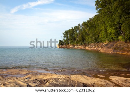 Upper Peninsula (Pictured Rock National Lake Shore) - Michigan, USA - stock photo