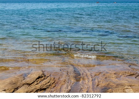 Upper Peninsula (Pictured Rocks) - Michigan, USA - stock photo