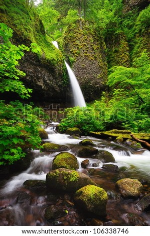 Upper ponytail falls - stock photo