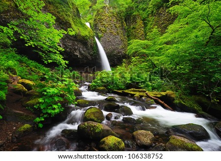 Upper ponytail falls - stock photo
