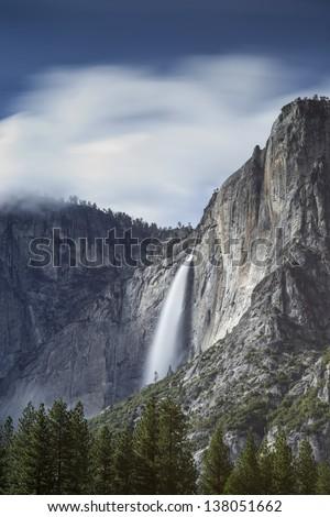 Upper Yosemite Falls - stock photo