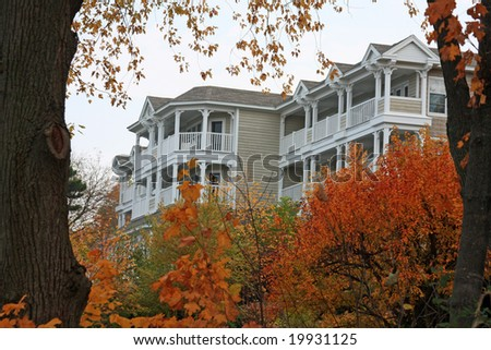 Upscale inn in Lake Geneva, Wisconsin - stock photo