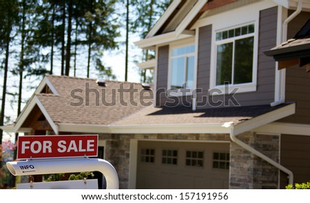 Upscale modern house for sale - stock photo