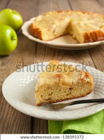 Upside Down Apple Cake - stock photo