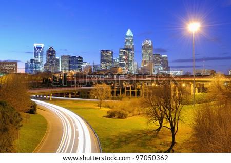 Uptown Charlotte, North Carolina. - stock photo