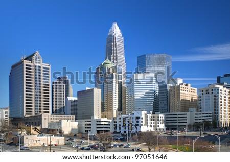 Uptown Charlotte, North Carolina - stock photo