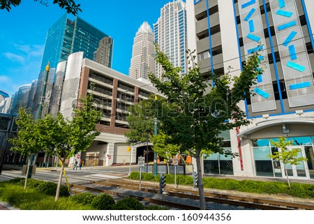 Uptown Charlotte, North Carolina cityscape. - stock photo