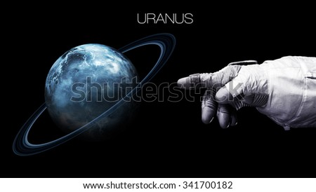 Uranus - High resolution best quality solar system planet. All the planets available. This image elements furnished by NASA.