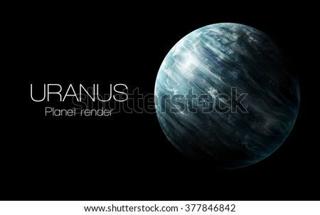 Uranus - High resolution 3D images presents planets of the solar system. This image elements furnished by NASA. - stock photo