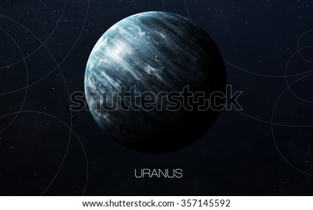 Uranus - High resolution images presents planets of the solar system. This image elements furnished by NASA. - stock photo