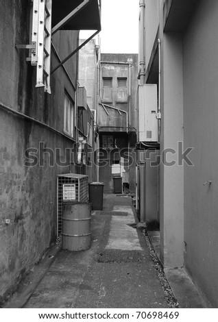 Urban Alleyway - stock photo