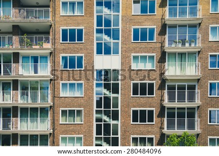 Urban building in the city. - stock photo