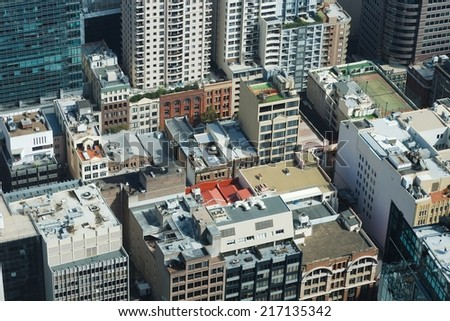 Urban buildings in the city centre - stock photo