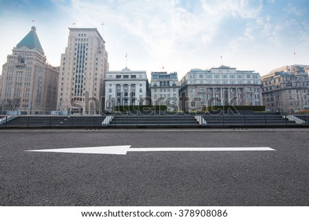 Urban  Carpark On city background. - stock photo