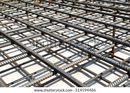 Urban construction buildings foundation - stock photo