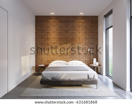 Urban Contemporary Modern Minimalism Hightech Bedroom Stock - High tech bedroom design