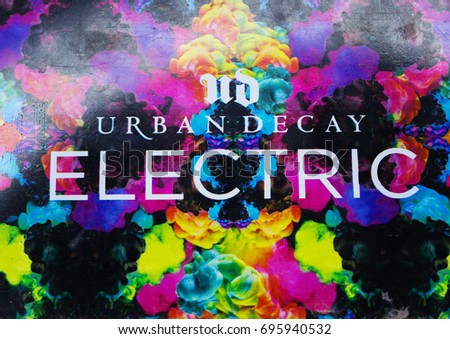 urban decay logo vector. urban decay cosmetics logo on the professional palette of eye shadow urban decay vector