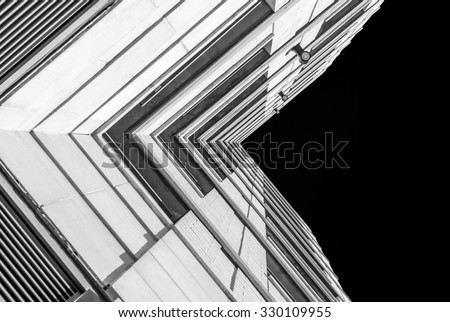 urban geometry looking building modern architecture stock photo royalty free 330109955. Black Bedroom Furniture Sets. Home Design Ideas