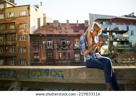 Urban girl - stock photo