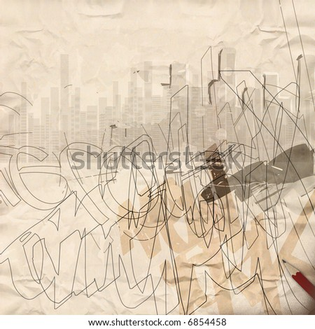 Urban Grunge Background - stock photo