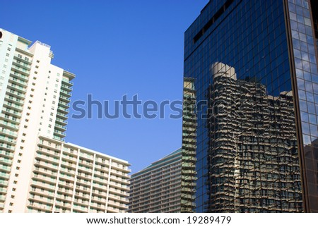Urban High Rise Office and Residential Buildings - stock photo