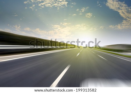 Urban highway speeds - stock photo