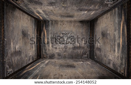 Urban Interior Metal Room - stock photo