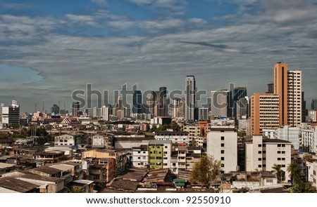 urban landscape, view of the daily Bangkok