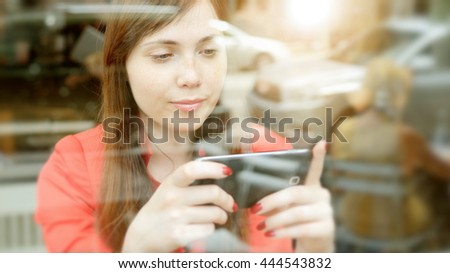 urban lifestyle portrait of young beautiful caucasian women. attractive female person background