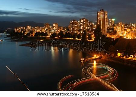 Urban Light Show - stock photo