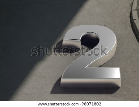urban number 2 concept - stock photo