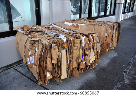 Urban Recycling - stock photo