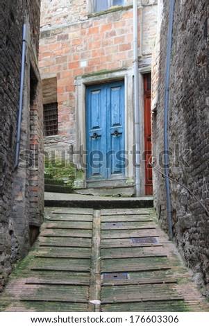 Urban scene in Urbino, Italy - stock photo